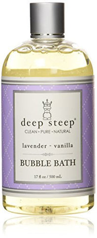 Deep Steep Classic Bubble Bath Lavender Vanilla 17 Ounce