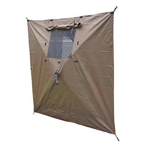 Clam 9897 Wind Panels with Windows, , Brown
