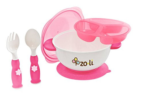 ZoLi STUCK Suction Feeding Bowl Kit - Pink