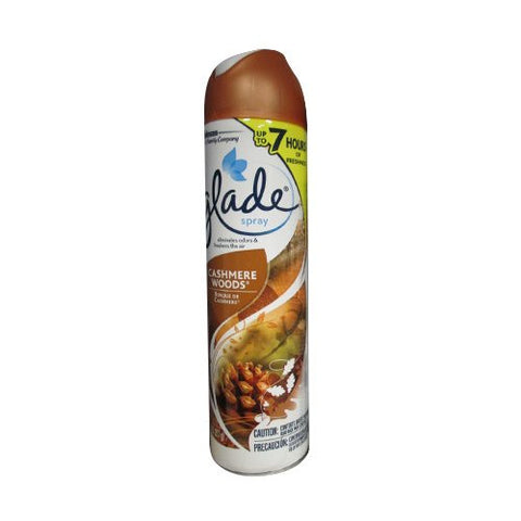 Glade Air Freshener Spray - Cashmere Woods - Net Wt. 8 OZ (227 g) Each -