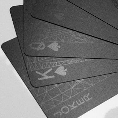 Mollaspace - Black Deck of Playing Cards - By Balance Wu