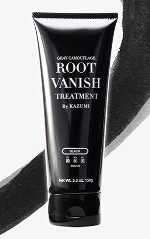 ROOT VANISH BY KAZUMI Color Treatment in Black Instantly Camouflages Gray Roots and Hair with Natural Anti-Aging Botanicals.(150g) (BLACK)
