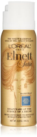 L'Oreal Paris Elnett Satin Hairspray Extra Strong Hold (Travel Size), 2.2 Ounce