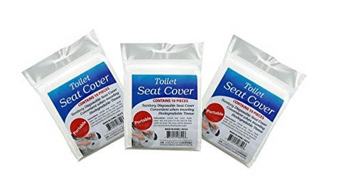 Travel Disposable Toilet Seat Covers 3pack