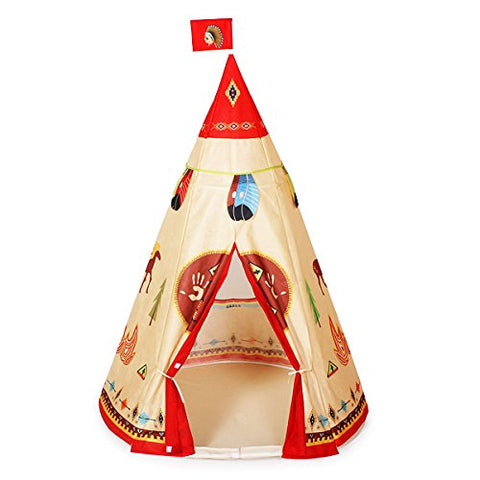 Ylovetoys Kids Play Tent Indian Teepee for Children Indoor Outdoor Use