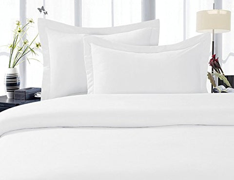 Solid White 300 Thread Count King/California King Size Duvet Cover Set 100 % Cotton 3pc Cover Set Button Enclosure By Sheetsnthings