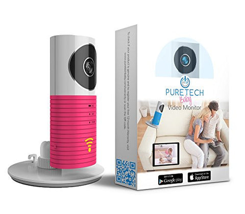 Video Baby Monitor Camera Compatible With iPhone & Android. Wifi Enabled Nanny Cam, 2 Way Talkback With Motion activated Cell Alerts. Hot Pink
