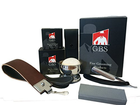 5 Pc Straight Razor Shaving Set / Kit - Comes in Gift Box!