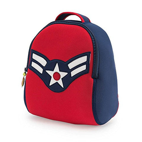 Dabbawalla Bags Vintage Flyer Military themed Kids' Preschool & Toddler Backpack Navy/Red
