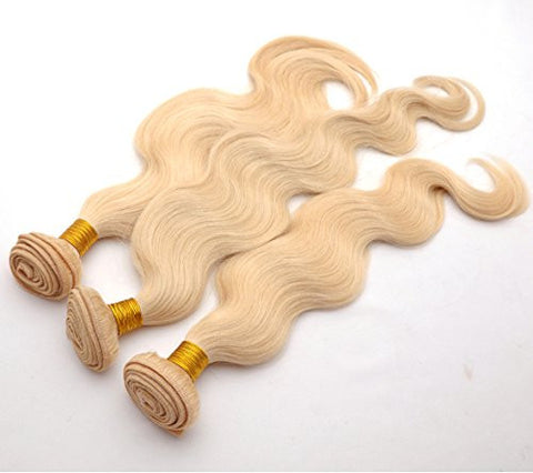 #613 Blonde Human Hair Extensions Body Wave Blonde Hair Bundles Brazilian Virgin Hair Weaves 12-28 Inch 1pcs/lot (22 Inch)