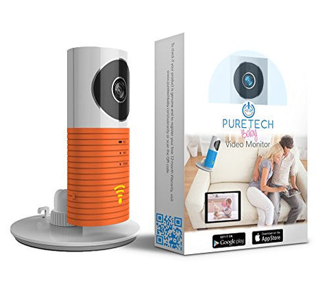 Video Baby Monitor Camera Compatible With iPhone & Android. Wifi Enabled Nanny Cam, 2 Way Talkback With Motion activated Cell Alerts. Sunset Orange