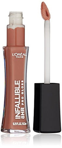 L'Oreal Paris Infallible 8HR Le Gloss, Barely Nude, 0.21 Ounces