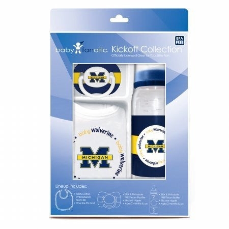 Baby Fanatic Gift Set,University of Michigan