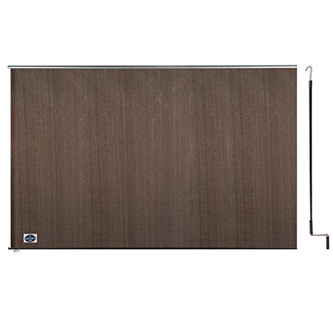 Cool Area 8' X 6' Exterior Cordless Roller Shade in Color Brown