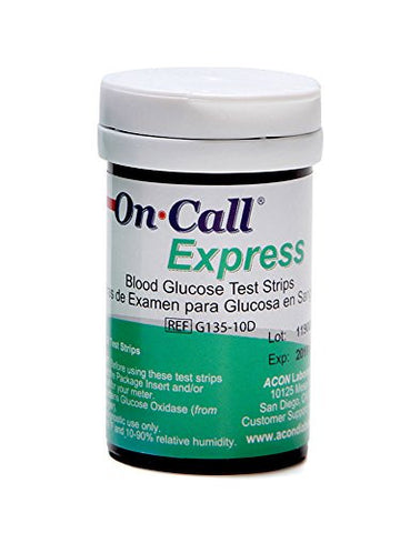 On Call Express G135-10D Blood Glucose Test Strips