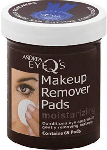 Andrea Eye Q's Eye Make-Up Remover Pads Moisturizing 65 Each