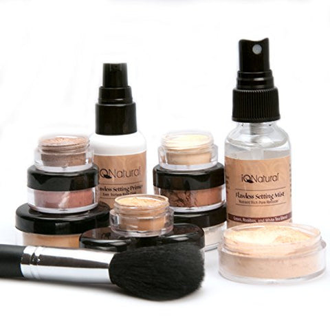 IQ Natural; Pure Minerals Makeup Bare Starter Set with Brush