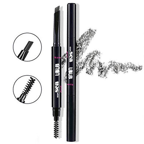 HeyBeauty Eyebrow Pencil with Brow Brush, Waterproof Automatic Makeup Cosmetic Tool, Black-5#