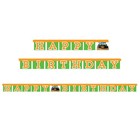 Tractor Time Happy Birthday Jointed Banner