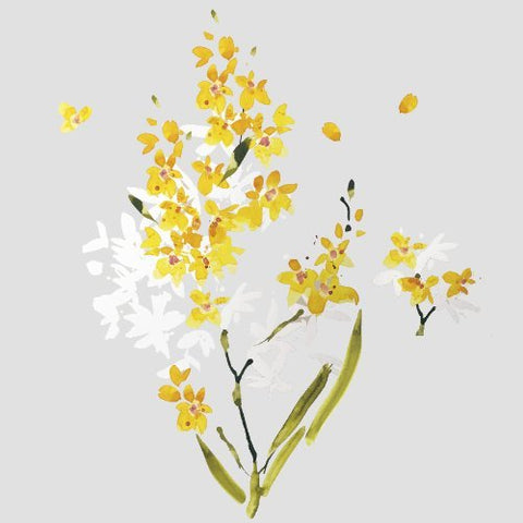 RoomMates RMK2494SCS Flower Arrangement Peel and Stick Wall Decals, Yellow,