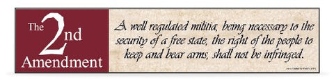 2nd Amendment - Wooden Desk Plaque - 8 in.