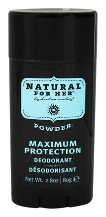 Herban Cowboy- Natural for Her Powder Scent Maximum Protection Deodorant - 2.8 Ounce