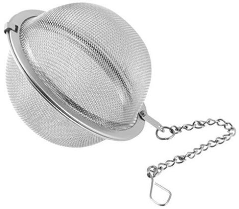 Fackelmann 49100 2, 5  Of Stainless Steel Tea And Spice Infuser With Chain, Silver