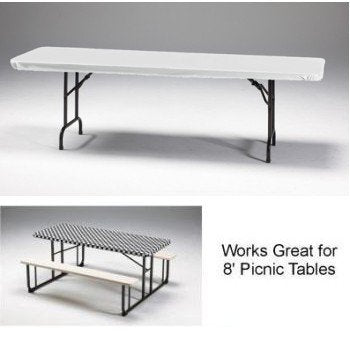 Creative Converting 37400 White Plastic Tablecover Stay Put 29 X 72 Solid (12pks Case)