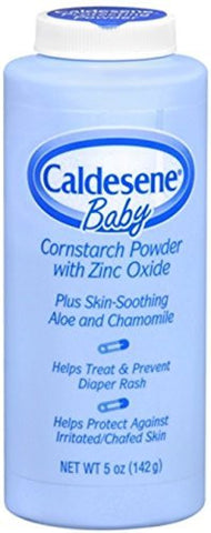 Caldesene Baby Cornstarch Powder With Zinc Oxide 5 oz