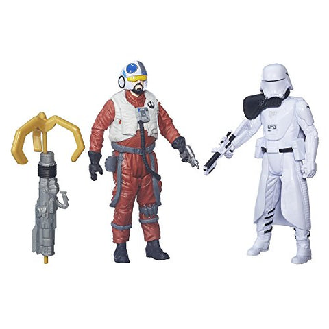 Star Wars: The Force Awakens 3.75 Inch Snap Wexley and First Order Snowtrooper Officer