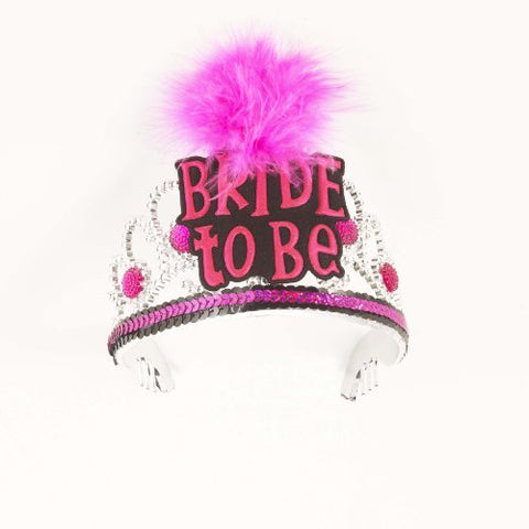 Forum Novelties Bride to Be Pink Black Tiara Bachelorette Party Bridal Shower