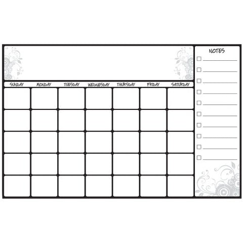 RoomMates RMK2477SLM Scroll Dry Erase Calendar Peel and Stick Wall Decals,