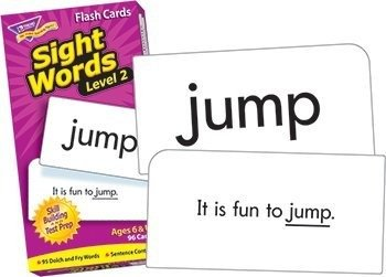 Level 2 Sight Words Skill Drill Flash Cards, Card Game