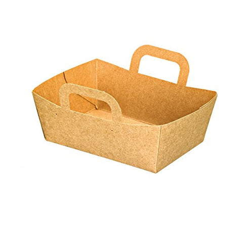 PacknWood Kraft Mini Take-Out Meal Basket, 3.75  x 2.75  x 1.4 , Brown (Case of 500)