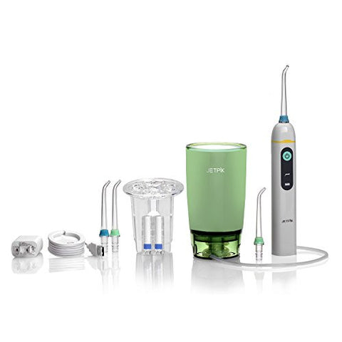 Jetpik JP50 Home - Rechargeable Electric Dental Flosser Oral Irrigator with Pulsating Floss + Water Jet Pik Power
