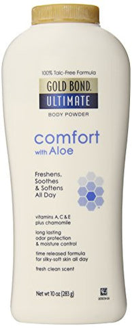 Gold Bond Ultimate Comfort Body Powder, Aloe, 10 Ounce Bottles