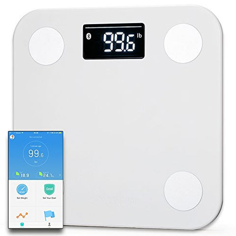 Yunmai mini Smart Scale - Body Fat Scale with Fitness APP & Body Composition Monitor with Extra Large Display