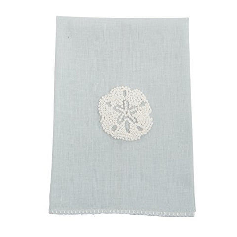 Mud Pie 4405192D Sand Dollar French Knot Hand Towel