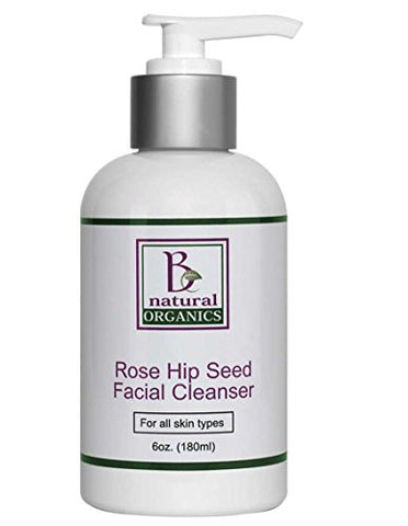 Be Natural Organics Rose Hip Seed Facial Cleanser 6 Oz (180 ml)