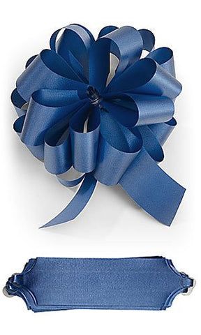 10 Royal Blue Pull Bows 5.5 Diameter 20 Loops Gift Wrapping Wrap Ribbon Bow