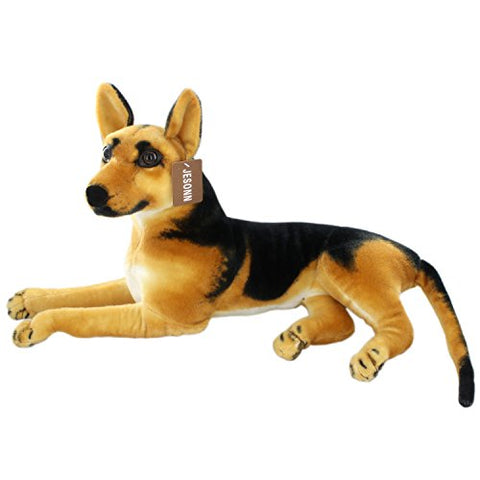 Jesonn Realistic Large Stuffed Animals German Dog Shepherd Plush Toys,23.6 or 60CM,1PC