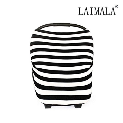 LAIMALA Baby Car Seat Covers, Multi-Use Stretchy Breathable Canopy & Infant Nursing Covers