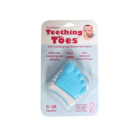 Original Teething Toes Cute Blue Baby Boy Shower Gift Toy