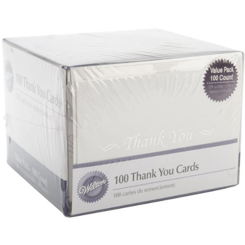 Wilton Basic Thank You Cards - 100 Count