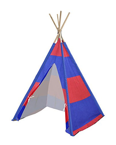 Heritage Kids Red and Navy Stripes Play Tent, Multi