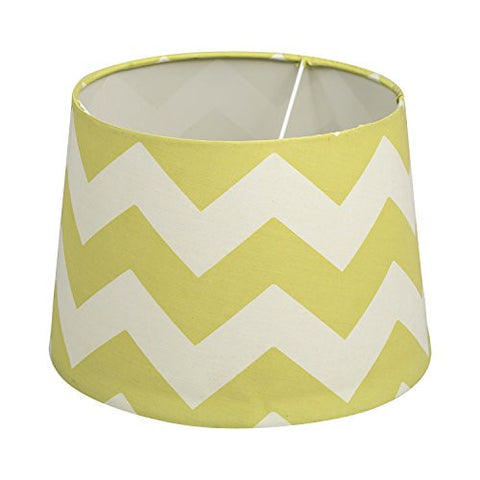 Lolli Living Lampshade, Green Zig Zag