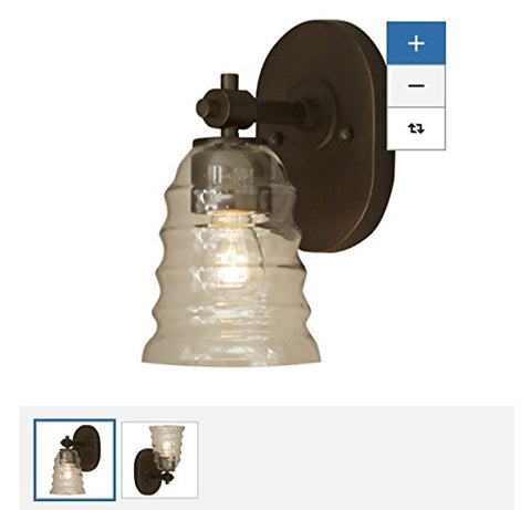 allen + roth Elham 1-Light 9.57-in Aged Bronze Bell Standard Vanity Light