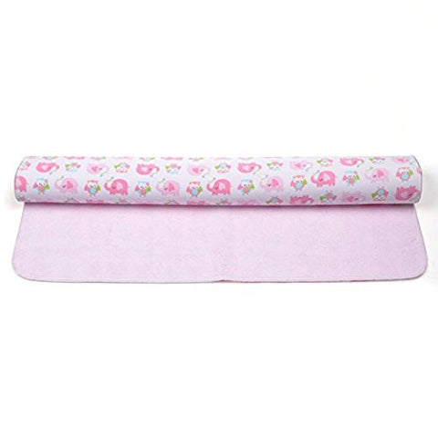 KLOUD City Baby Waterproof Washable Diaper Changing Mat Pad (Pink 27.5x19.5 inch)