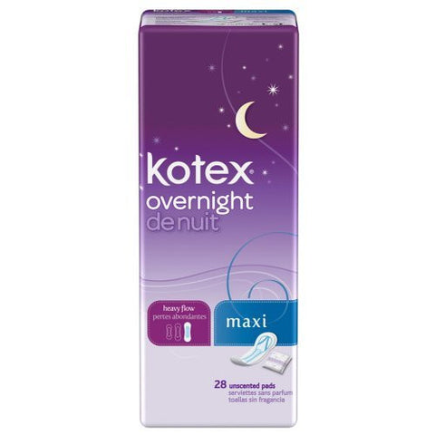 Kotex Maxi Pad Ovrnight D Size 28ct Kotex Maxi Pads Overnight Double Pack 28ct