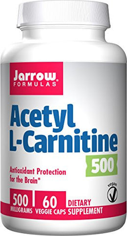 Jarrow Formulas Acetyl L-Carnitine, Antioxidant Protection for the Brain, 500 mg, 60 Capsules